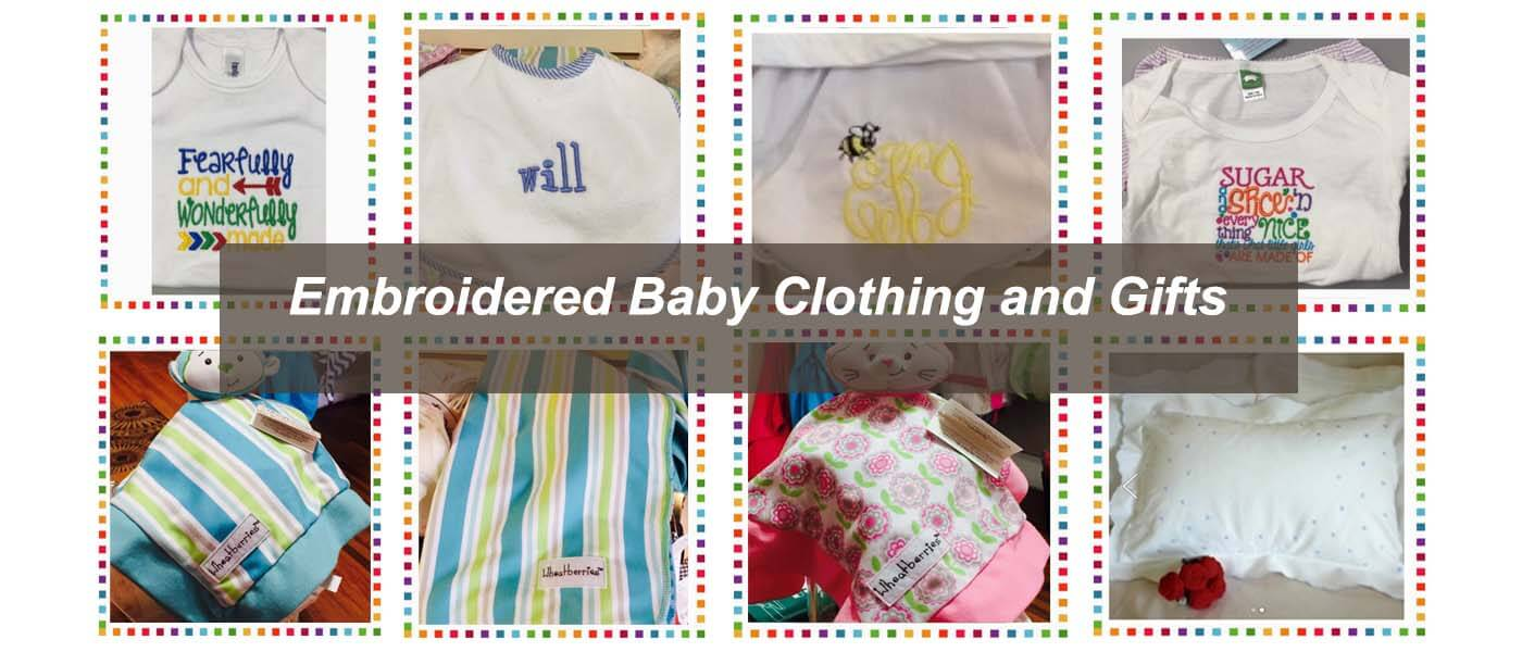 Embroidered Baby Clothing by Creative Stitches