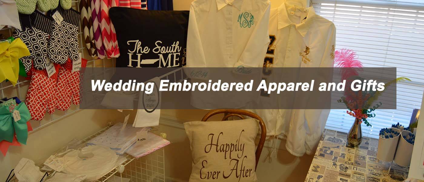 Wedding Embroidered Apparel by Creative Stitches