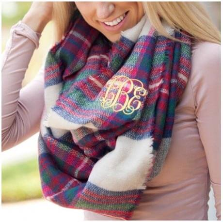 Red and Blue Fall scarf